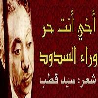 تصویر اخی انت حر وراء السدود ، ای برادرم ،شعری زیبا از سید قطب با ترجمه