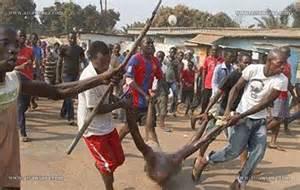 تصویر کشته شدن فجیع ۴ مسلمان در آفریقای مرکزی
