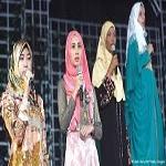 تصویر برگزاری مراسم دختر شایسته جهان اسلام در اندونزی