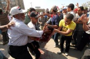 تصویر ۱کشته و۳۵ زخمی در تظاهرات ضد کودتا مصر