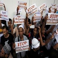 تصویر خشم مردم شرق آسیا از رفتار غیرانسانی علیه مسلمانان میانمار