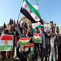 تصویر دمکراسی برای سوریه/ خودمختاری برای کردستان