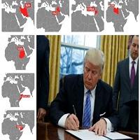 تصویر ترامپ ورود ایرانیها و شهروندان ۶ کشور مسلمان به آمریکا را ممنوع کرد