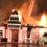 Photo of مسجد «ویکتوریا» تگزاس در آتش سوخت