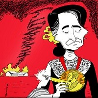 Photo of از ملکهی سکوت تا برندهی نوبل کشتار: «آنگ سان سو چی» در قاب کاریکاتور