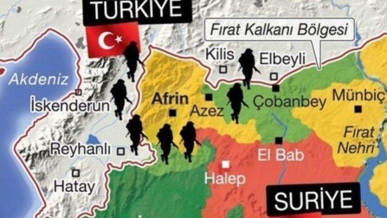 تصویر سناریوهای محتمل ترکیه در عفرین