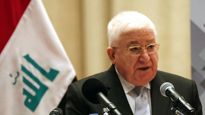 تصویر فواد معصوم مصوبه بودجه مجلس عراق را تایید نکرد