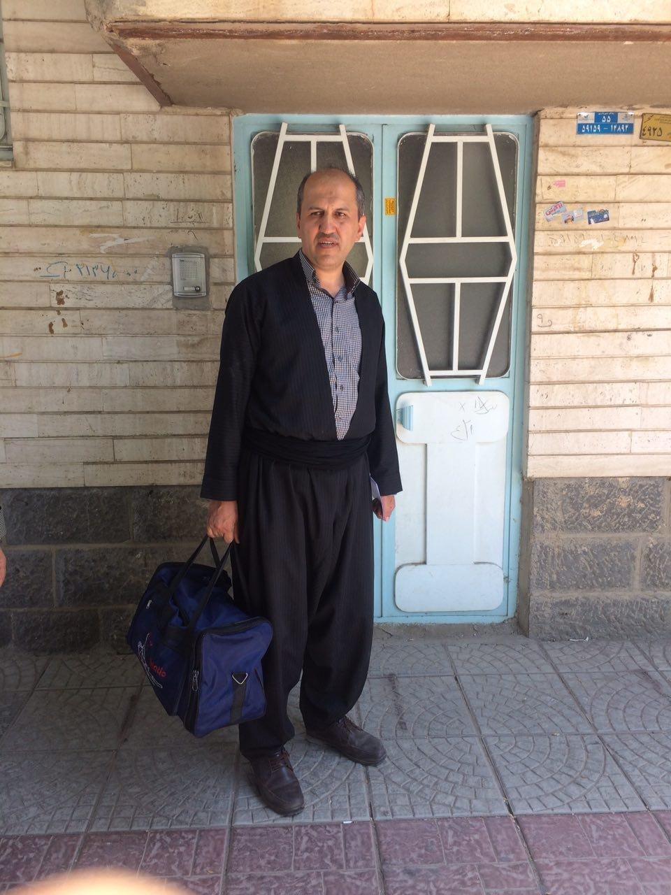 تصویر «بختیار عارفی» جهت اجرای حکم راهی زندان مهاباد شد