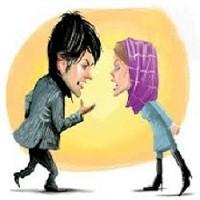 تصویر اشتباهات رایجی که زن ها اغلب در بحث و مجادله با شوهرشان مرتکب می شوند.