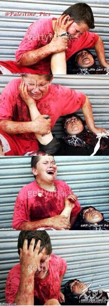 تصویر بعدازانتشار تصاویرجنایات اسرائیل اوبامانیزمجبوربە واکنش شد.