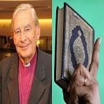 تصویر تلاوت قرآن در مراسم تاج گذاری در انگلیس