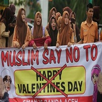 تصویر ولنتاین در اندونزی ممنوع شد