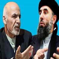 تصویر امضای توافقنامه صلح میان دولت افغانستان و حزب اسلامی حکمتیار