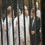 تصویر محاکمه مرسی و ۳۵ نفر از رهبران اخوان