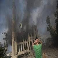 تصویر آتش سوزی مسجدی در فرانسه