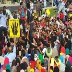 تصویر تظاهرات شبانه اخوانیها در اعتراض به حکم زندان مرسی