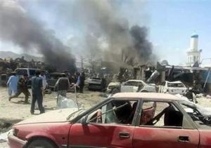 تصویر مرگبارترین انفجار تروریستی۲۰سال اخیر در افغانستان