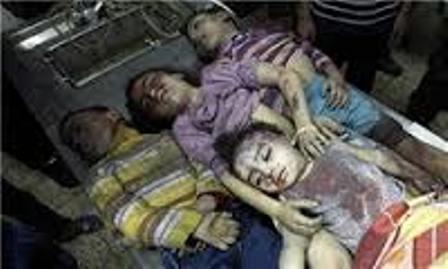 تصویر ای کودکان خفته در گولزار غزه  در گورهای سردتان آرام بخوابید