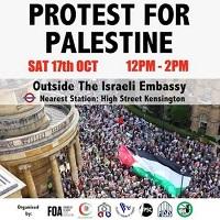 تصویر برگزاری تظاهرات سراسری در انگلیس در حمایت از مردم فلسطین