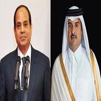 تصویر نخستین تماس تلفنی میان السیسی و امیر قطر پس از برکناری مرسی