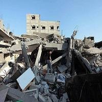 تصویر حمله هوایی اسراییل به غزه