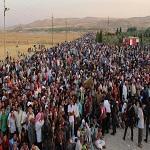تصویر یک و نیم میلیون آواره عراقی در اقلیم کردستان حضور دارند