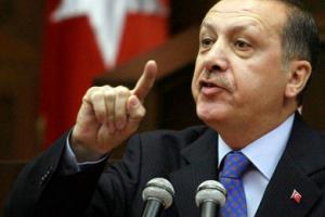 تصویر سخنرانی اردوغان در جمع علویان ترکیه