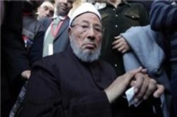 تصویر دکتر یوسف قرضاوی: سیسی ودارودسته اش تروریست هستند نه اخوان المسلمین.