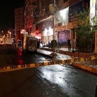 تصویر ساختمان حزب عدالت و توسعه در دیاربکر ترکیه مورد حمله قرار گرفت
