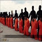 تصویر عاملان جنایت قتل ۲۱ مسیحی قبطی، داعش یا بازماندگان رژیم قذافی؟