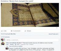 حمایت پائولو کوئلیو از قرآن در فیسبوک