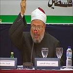 تصویر پیام رئیس اتحادیهی جهانی علمای مسلمان، خطاب به مردم مصر