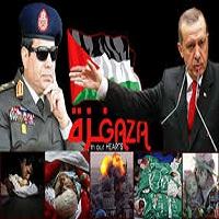 تصویر نگاه مصر و ترکیه به غزه