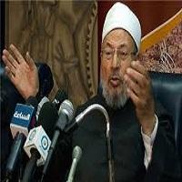 تصویر قرضاوی خطاب به خردمندان عرب: سیسی را متوقف کنید!
