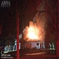 تصویر یک مسجد در کانادا به آتش کشیده شد