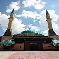 تصویر مسجد شبه جزیره کریمه در آتش سوخت