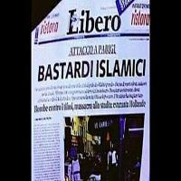 تصویر تیتر جنجالی روزنامه لیبرو ضد مسلمانان