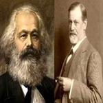 تصویر دیدگاه مارکس و فروید درباره منشاء دین