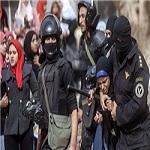 تصویر سرکوب تجمع دختران دانشگاه الازهر مصر