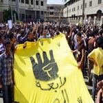 تصویر دانش آموزان مصری در آغاز سال تحصیلی جدید علیه کودتا تظاهرات کردند