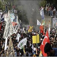 تصویر اردوغان انفجار دیاربکر در ترکیه را محکوم کرد