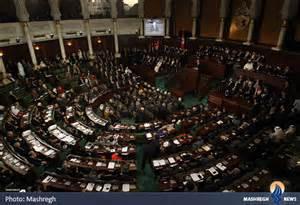 تصویر برگزاری جشن تصویب قانون اساسی جدید تونس با حضور فرانسوا اولاند