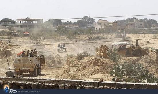 تصویر دستان ارتش مصر در دستان ارتش اسرائیل